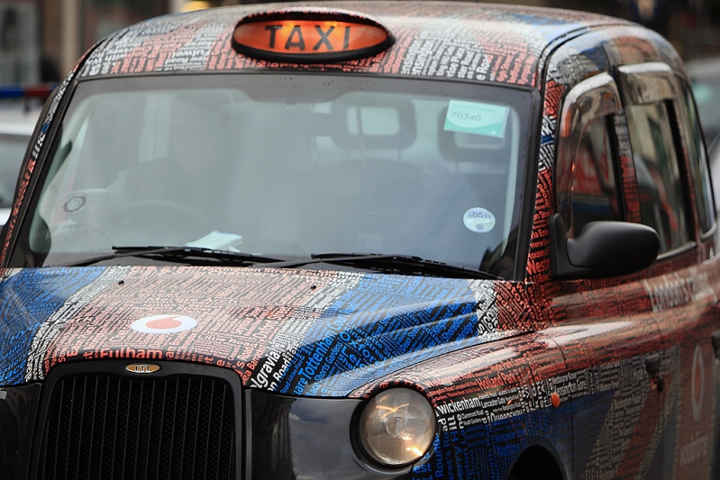 Union Jack Hackney (taxi) • Oxford Street